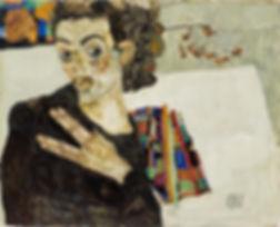 Egon Schiele Selbstbildnis 1911