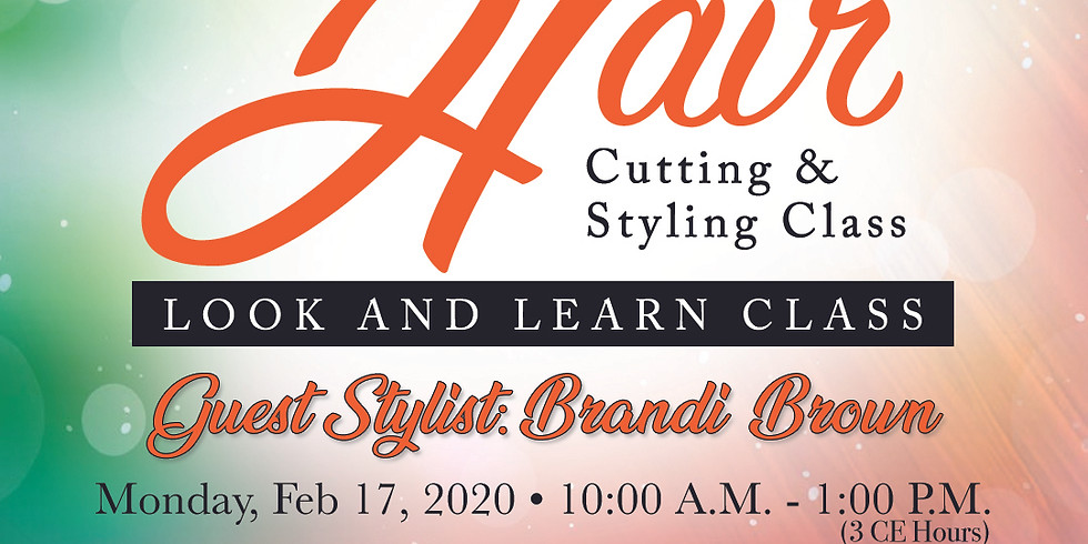 Hair Cutting & Styling Class: Look & Learn