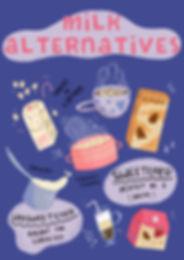 Milk Alternatives - almond milk, oat milk, sweet and unsweetened