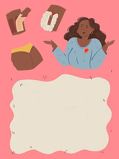 story editorial illustration magazine publication shaving hair hairy woman problems puberty