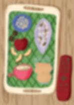 editorial food illustration of nuts, seeds, coffee, drinks