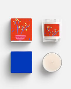 candle design mock up packaging pattern design illustration abstract tree planter