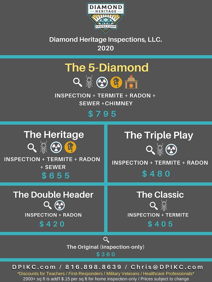 2020 Diamond Heritage Inspections Price