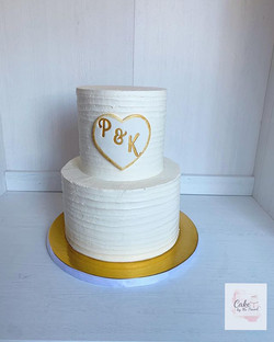 Elegant wedding cake ✨ 2 tier Italian me