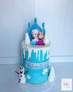 Frozen cake ❄️☃️ Tall double barrel choc