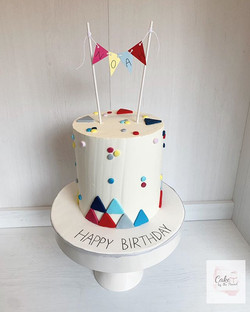 Cute modern cake for a kid! Vanilla cake