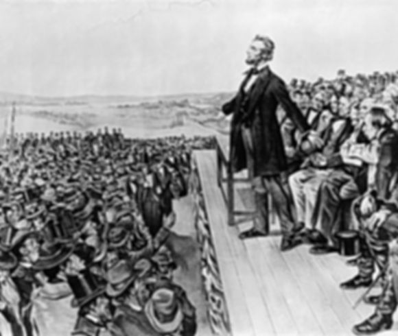 Abraham Lincoln at The Gettysburg Address - image preview of the UX design project