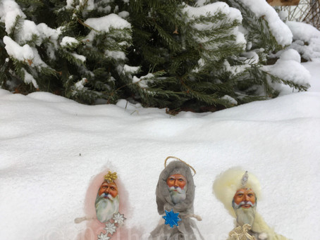 綿人形で「東方の三賢人」を作りました