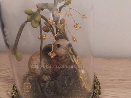 ドイツ手工芸でウサギのドーム飾りを作りました。