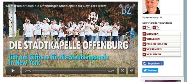 Stadtkapelle Offenburg nimmt an der Steubenparade teil