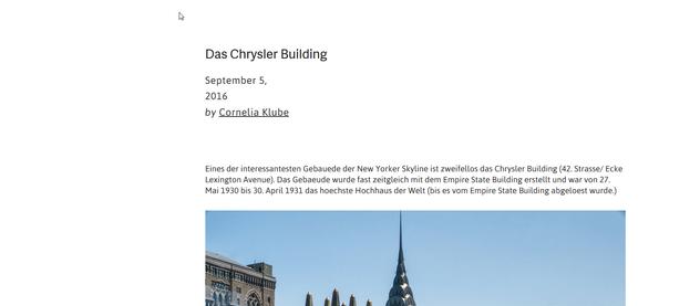 Genickstarre NYC: Das Chrysler Building