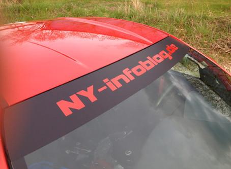 Rasante Werbung für das NY-Infoblog