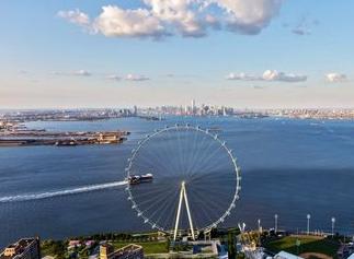 Baufortschritt am Riesenrad ist Staten Island