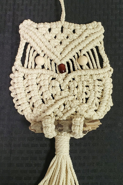 Handmade Owl Wall Macrame