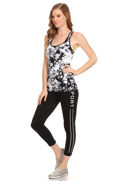 Abstract Seamless Tank top
