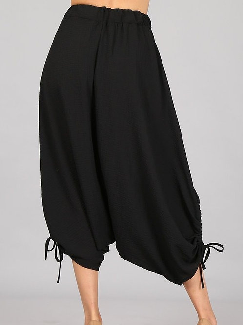 Black Harem Yoga Pants with ties