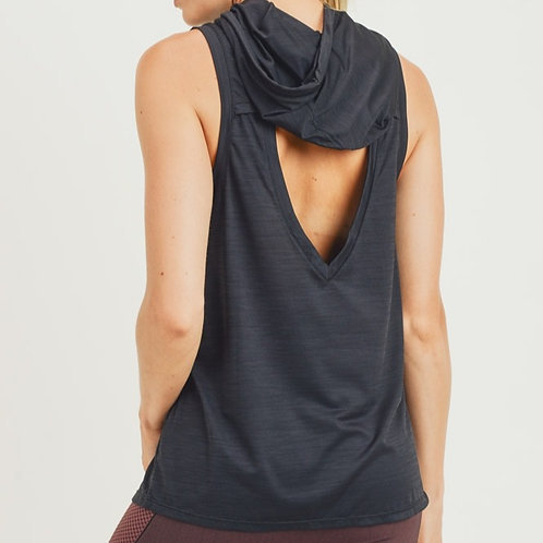 Cut out Back Hooded Tank