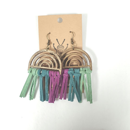 Handmade Macrame Tassle Earrings