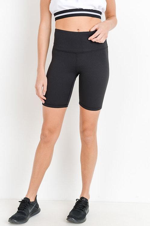 Highwaist Biker Shorts with Pocket