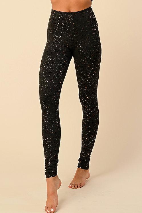 Black with Copper Sparkles Leggings