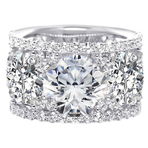 Wide Eternity Wedding Band Moissanite