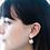 Thumbnail: Gienah Framed Single Bloom Dangle Moissanite  Earring
