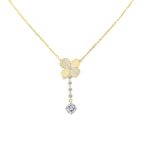 Gienah Drop Moissanite Y-Necklace