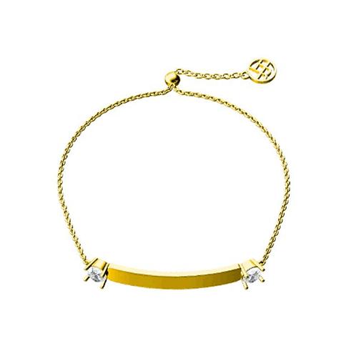Cygni Engravable Horizontal Bar 1 carat Moissanite Slider Bracelet