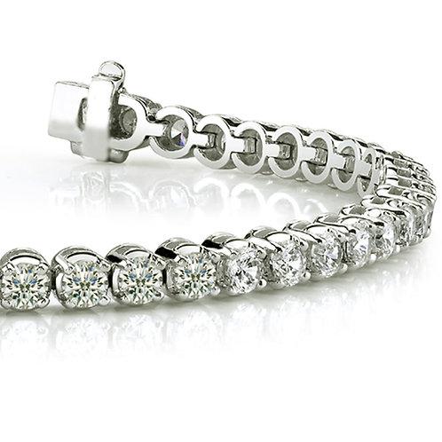 25 carat Halley Reh Round Brilliant Cut Tennis Bracelet in 14k White Gold