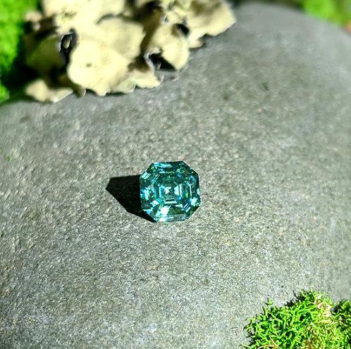 Premium Emerald Green Asscher Cut Moissanite Loose