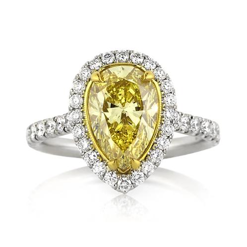 3.22 carat Hartley Halo Set Moissanite Engagement Ring