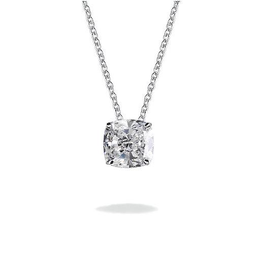Solitaire Cushion Moissanite Lab-grown diamond