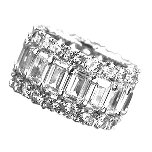 3.34 carat Halley Reh Baguette and Round Brilliant Eternity Ring