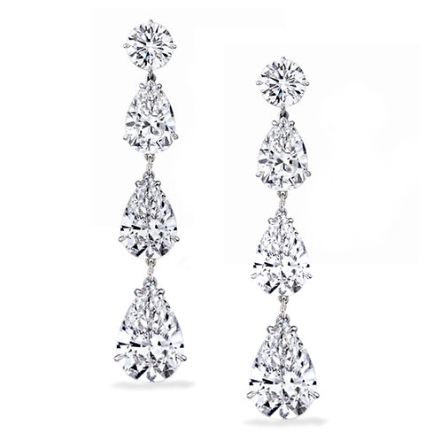 Jennifer Lopez Pear Cut Drop Earrings