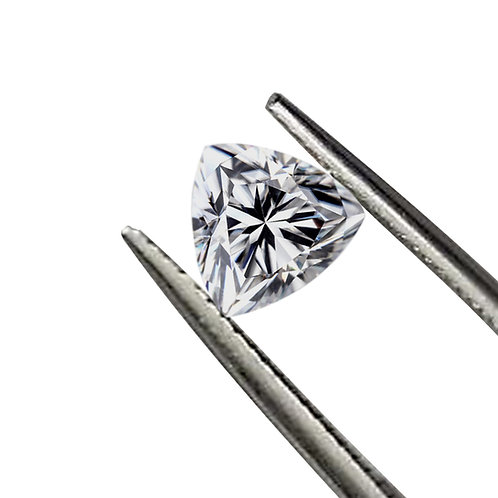Trillion Cut DEF/VVS1 Colorless Loose Moissanite Gemstone
