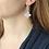 Thumbnail: Gienah Dangle Moissanite  Earrings