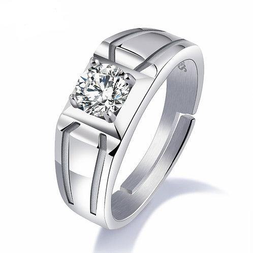 2.24 carat  Recessed Halley Reh Round Brilliant Cut Moissanite Wedding Ring