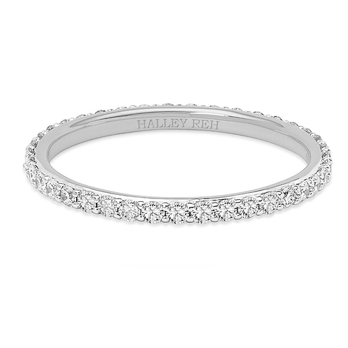 Cassiopeia Thin Stackable Studded Moissanite Promise Ring