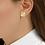Thumbnail: Gienah Single Bloom Stud Moissanite  Earring