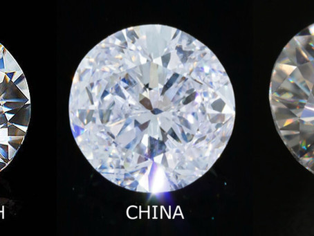 A true side by side comparison of China and India Made Moissanite.  Are they worth your Money?