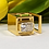 Thumbnail: Faye Square Statement Ring 2.50ct Emerald cut Moissanite EF/VVS1