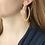 Thumbnail: Gienah Single Bloom Hoop Moissanite Earrings