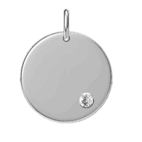 Cygni Engravable Personalized Moissanite Charm