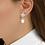Thumbnail: Gienah Aegis Dangle Moissanite  Earring