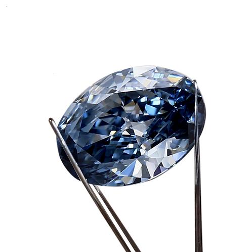 Premium Blue Loose Moissanite
