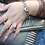 Thumbnail: HR Monogram Chain Link Moissanite Charm Bracelet