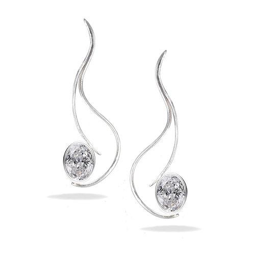 Custom Made Moissanite Labgrown Diamond Earrings