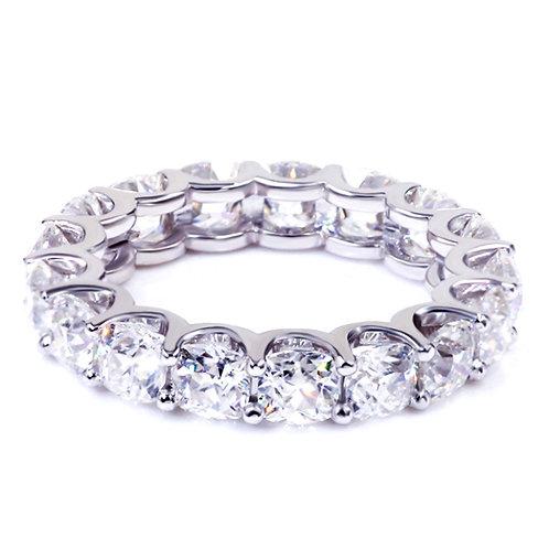 4.10 carat Round Brilliant Cut Moissanite Eternity Wedding Band