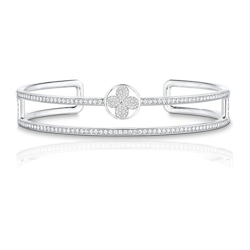 Gienah Studded Double Band Bangle Bracelet