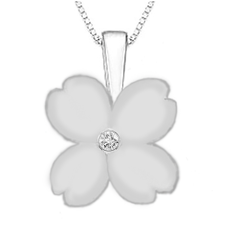 Gienah Solitary Bloom Pendant with Box Chain